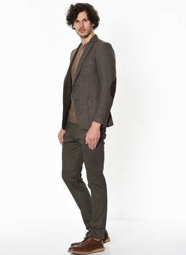 George Hogg Slim Fit Kanvas Pantolon Haki